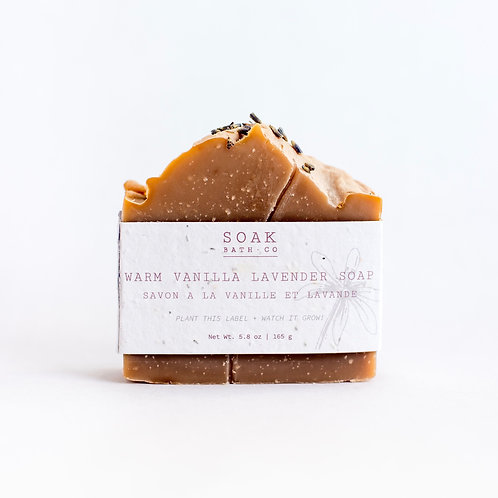 Warm Vanilla Lavender Soap Bar