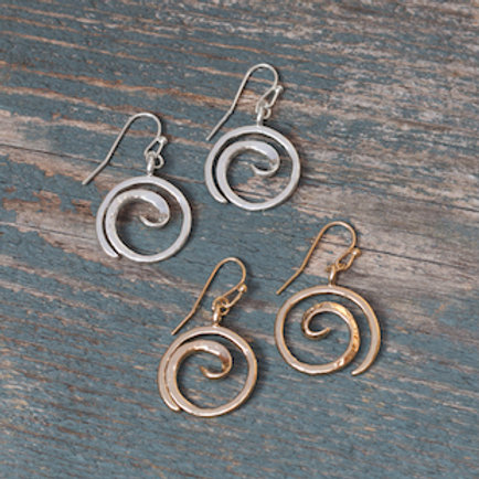 Tofino Earrings-Silver