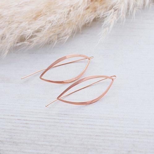 Zephyr Earrings- Rose Gold-Silver