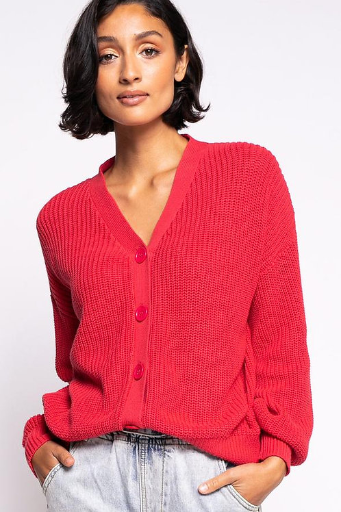 The Gaia Sweater- Pink Coral