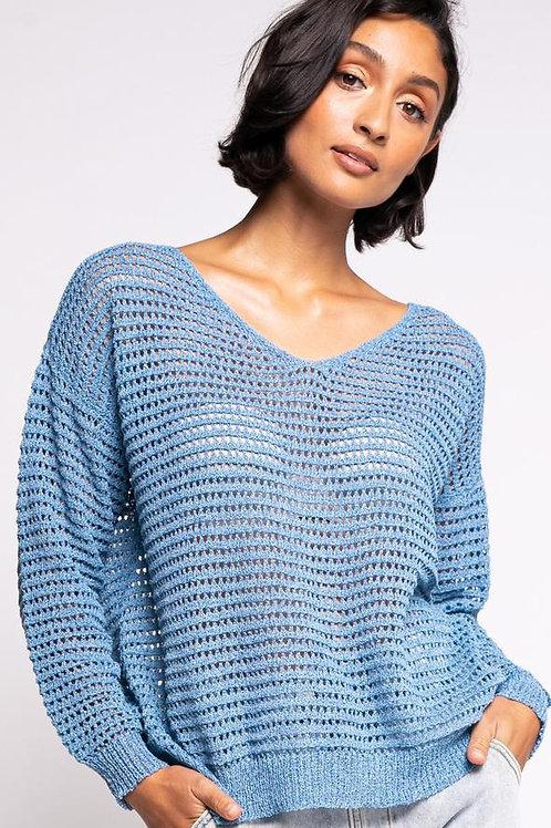 The Gretta Sweater-Blue
