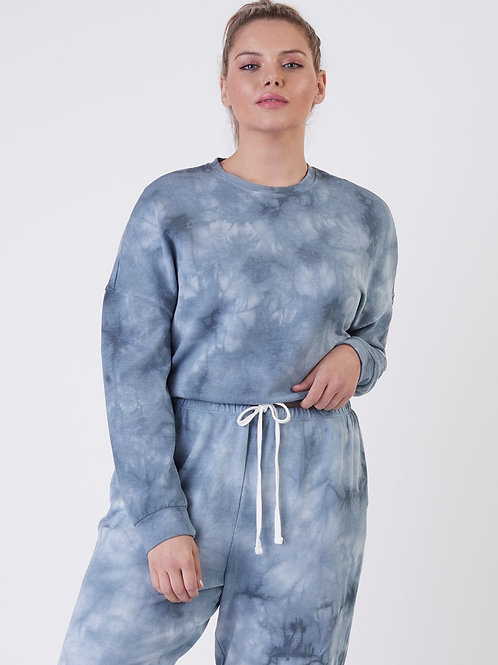 Navy Tie Dye Pullover