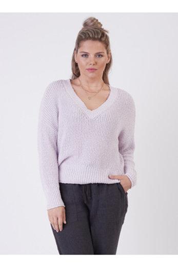 Long Sleeve Lavender Sweater l Plus