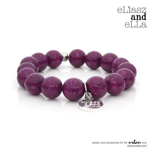 "Silver ""Purple River"" Stone Bangin' Bracelet"