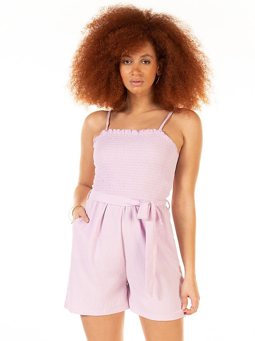 Lilac Belted Romper