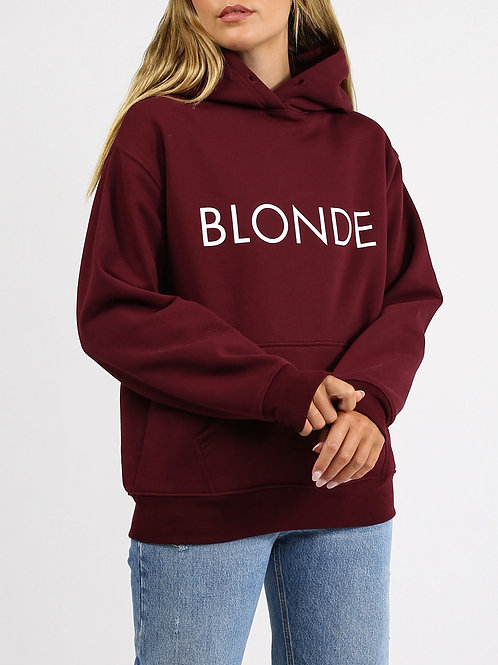 "The ""BLONDE"" Classic Hoodie | Burgundy"