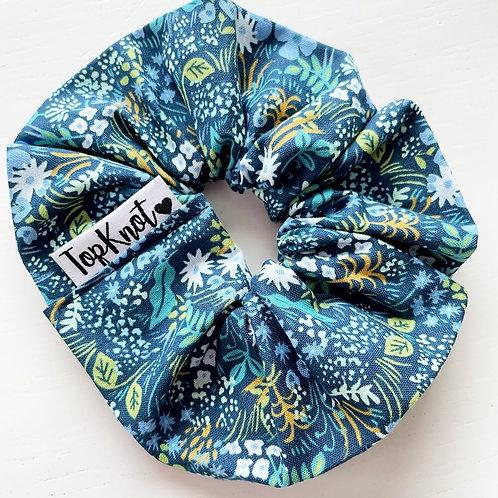 The Midnight Floral Scrunchie