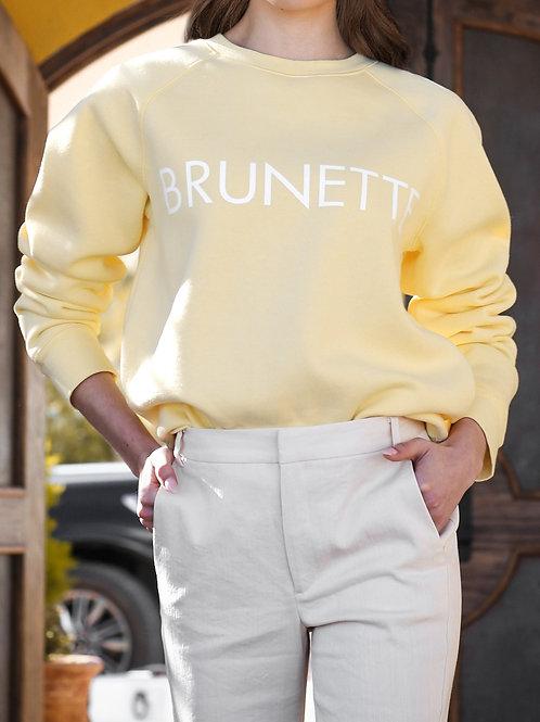 "The ""BRUNETTE"" Classic Crew Neck Sweatshirt | Lemon"