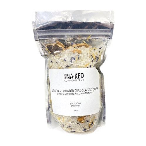 Lemon + Lavender Dead Sea Salt Soak - Limited Edition Scent