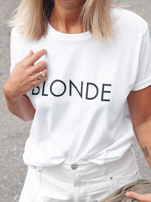 "The ""BLONDE"" Classic Crew Neck Tee | White"