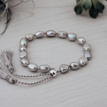 Humble Bracelet- Grey Pearl