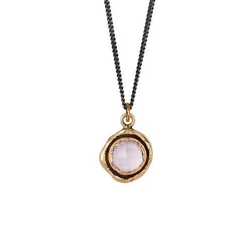 Rose Quartz Faceted Stone Talisman Necklace