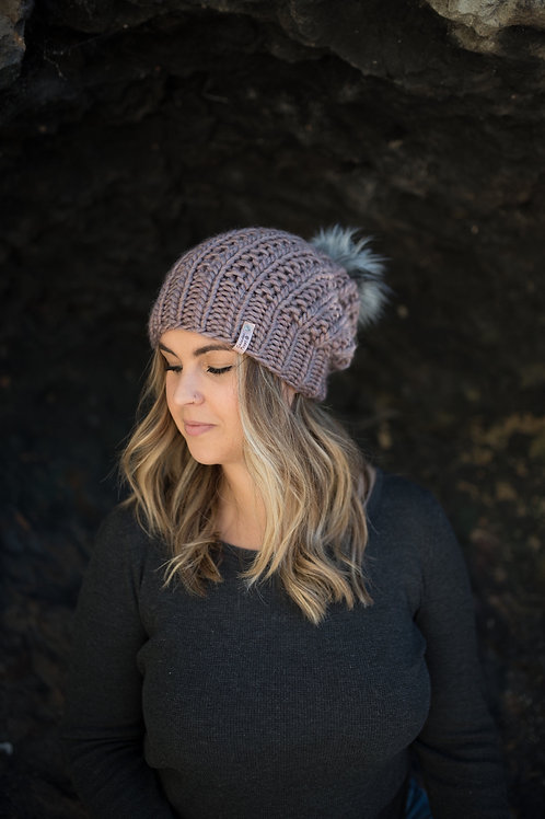 The Kalamalka Slouch Toque l Rose Brown