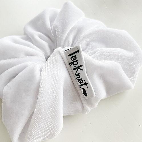 The White Velvet Scrunchie