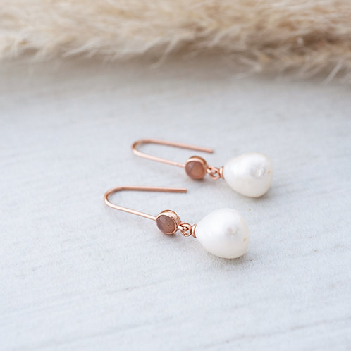 Beatrice Earrings l Rose Gold