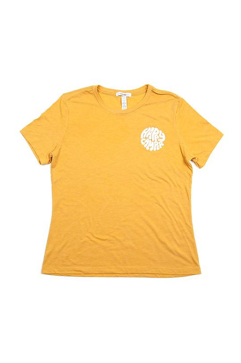 Happiest Camper Relaxed T-Shirt Mustard