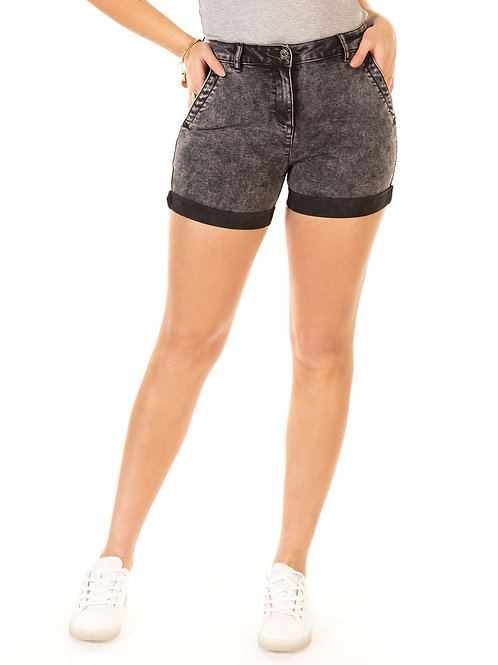 Black Wash Denim Short