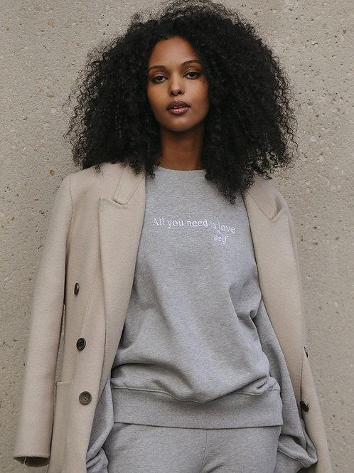 "The ""ALL YOU NEED"" Best Friend Crew Neck Sweatshirt | Classic Grey"
