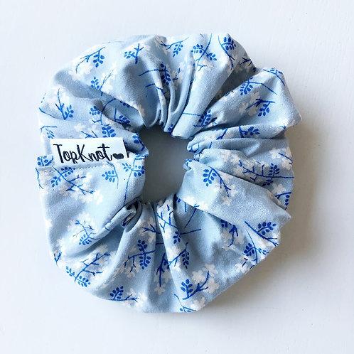 The Blue Floral Scrunchie