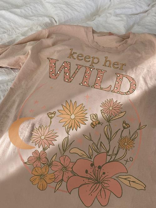 Keep Her Wild Oversized Tee