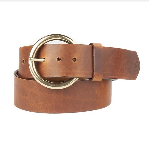 Vika Leather Belt l Brandy