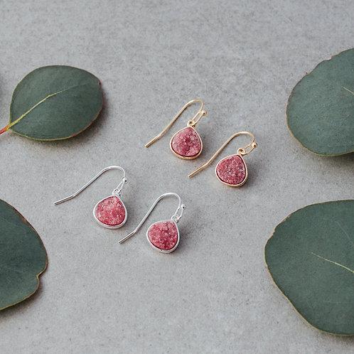 Glimmer Earrings- Pink Gold