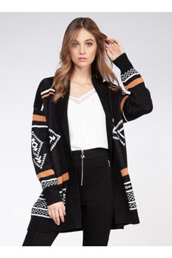 Black & White Tribal Cardigan