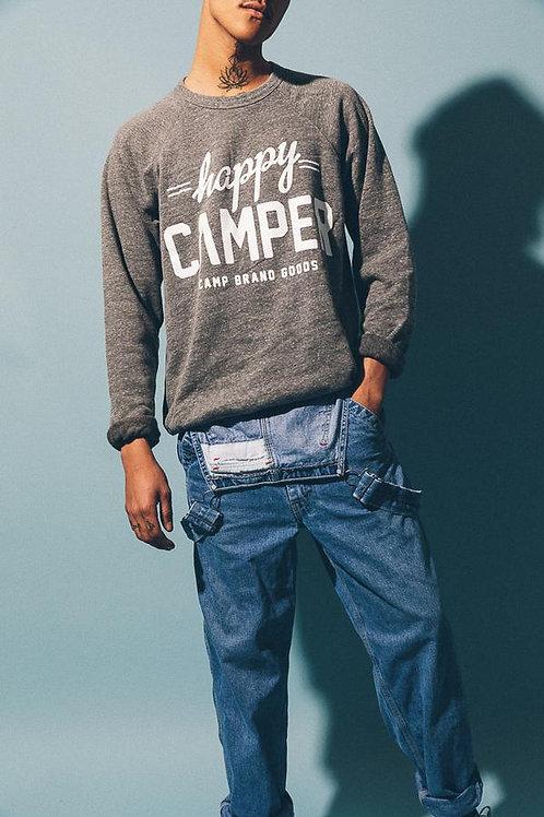 Happy Camper Crewneck l Tri Grey