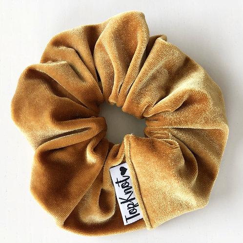 The Gold Velvet Scrunchie