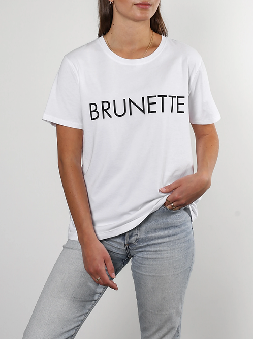 "The ""BRUNETTE"" Classic Crew Neck Tee 