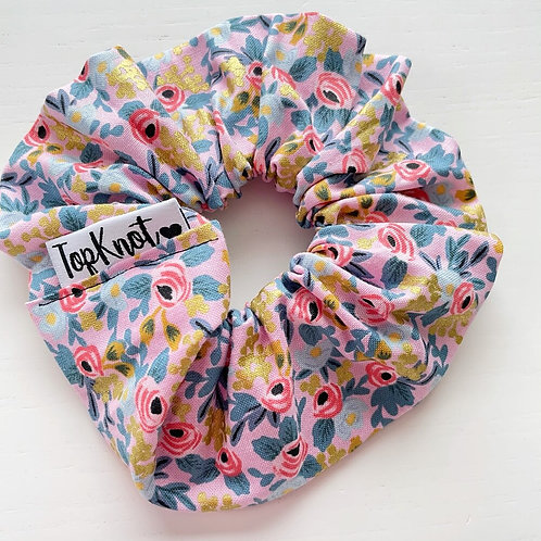 The Gold Floral Scrunchie