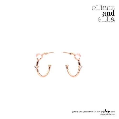 """Embrace"" Rose Quartz Hoop Earrings"