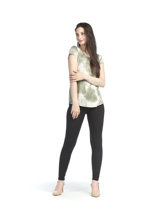 Moss Green - Soft Tie Dye Stretch T-shirt
