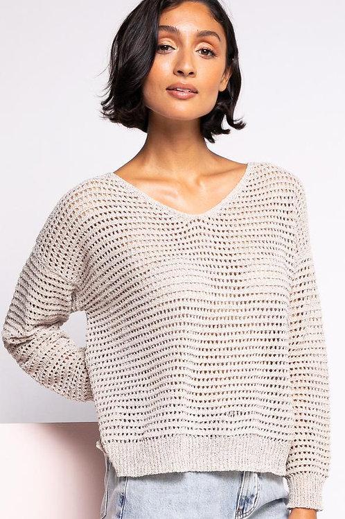 The Gretta Sweater-Beige