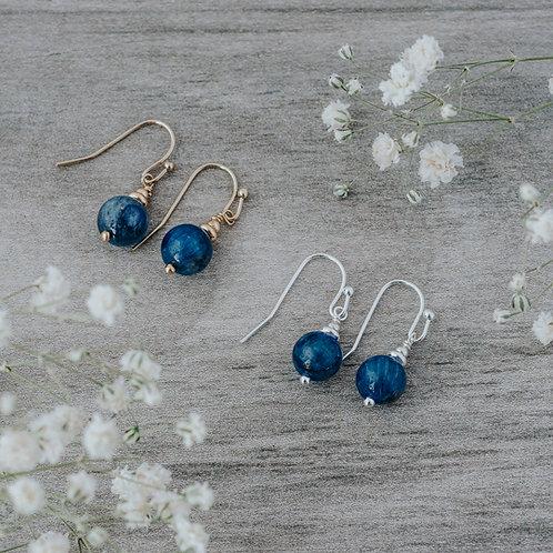 Mingle Earrings- Gold/Kyanite