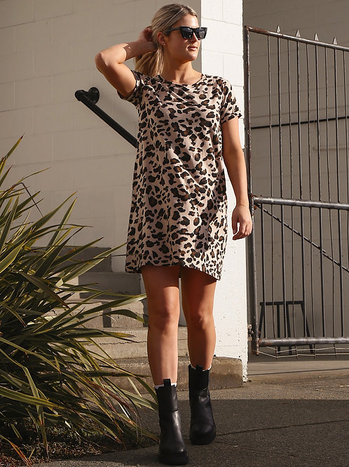 "The ""LEOPARD"" Tee Dress 