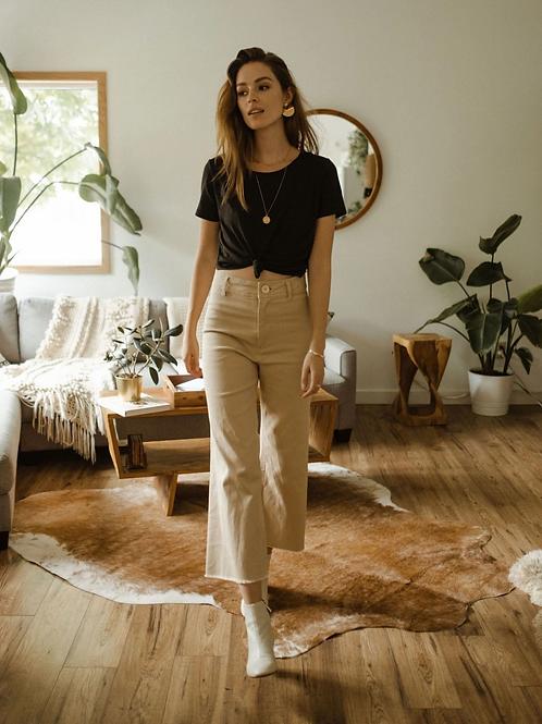 Lembert Crop Pants- Stone
