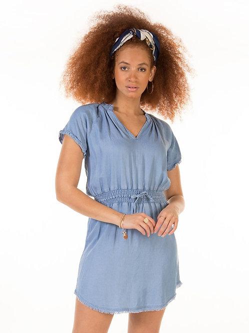 Freyed Hem Bleach Washed Dress