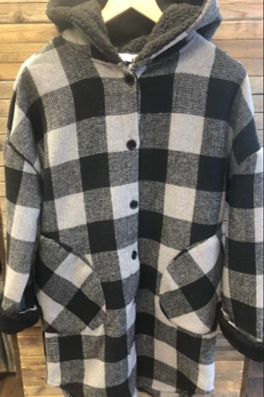 Hooded Plaid Jacket
