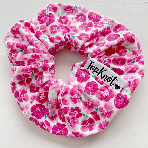 The Pink Poppy Scrunchie