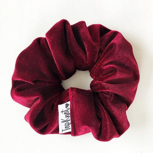 Merlot Velvet Scrunchie