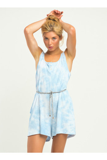 Short Sleeved Baby Blue Romper