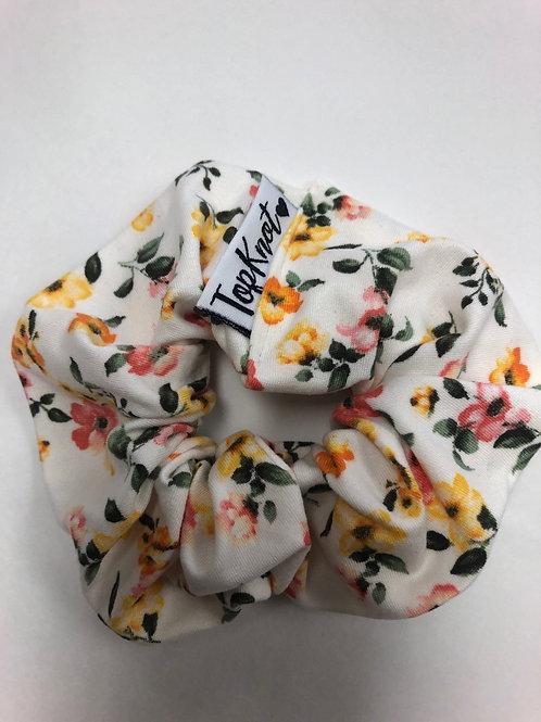 The Mustard Floral Scrunchie
