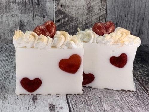 Valentine's Strawberry Bar Soap