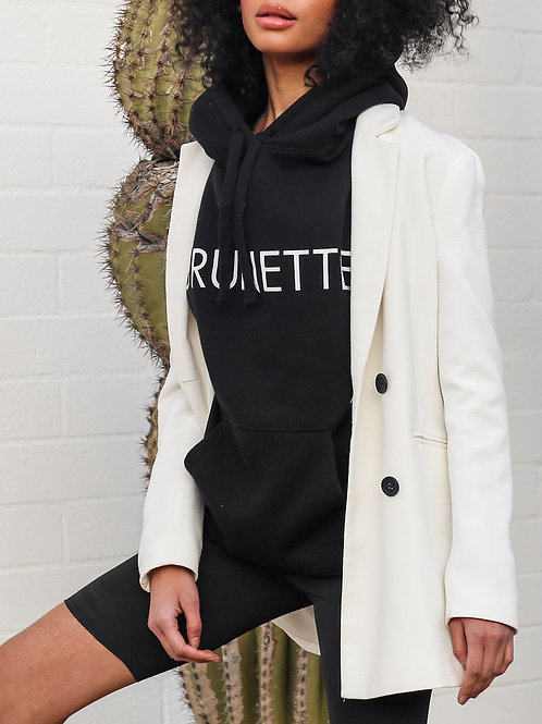 "The ""BRUNETTE"" Classic Hoodie   Black"