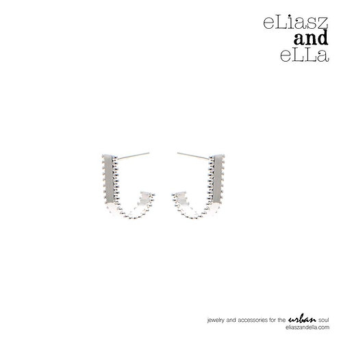 "Silver ""Blushing"" Earrings"