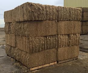 flax bedding bales