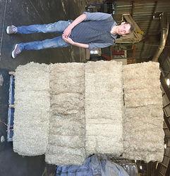 flax bedding fibre bale skid