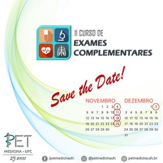 Save the date! O II Curso de Exames Complementares vem aí!