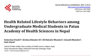 Artigo da semana: Estilo de vida saudável vs. estudantes de medicina